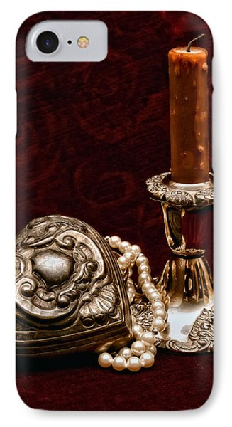 Pewter And Pearls Phone Case by Christopher Holmes