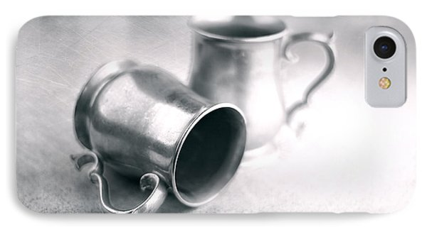 Pewter Tankards Still Life IPhone Case by Tom Mc Nemar