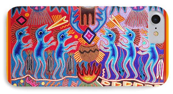Peyote Shaman Hunting Ritual IPhone Case by Vagabond Folk Art - Virginia Vivier