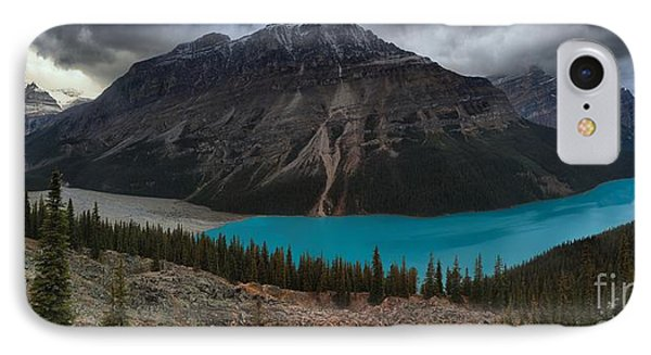 Peyto Lake Storm Clouds IPhone Case