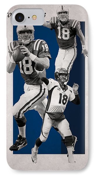 Peyton Manning Broncos Colts IPhone Case by Joe Hamilton