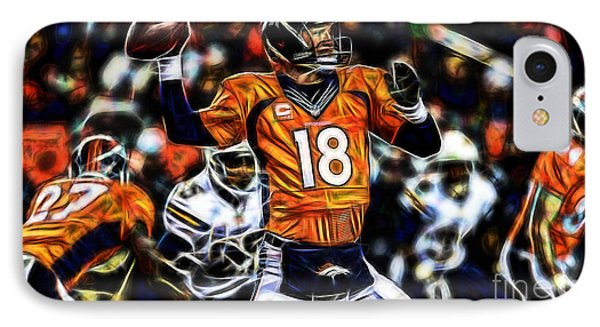 Peyton Manning Collection IPhone Case by Marvin Blaine