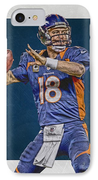 Peyton Manning Denver Broncos Art 2 IPhone Case by Joe Hamilton