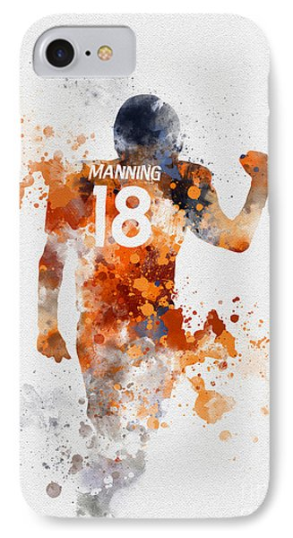 Peyton Manning IPhone Case by Rebecca Jenkins