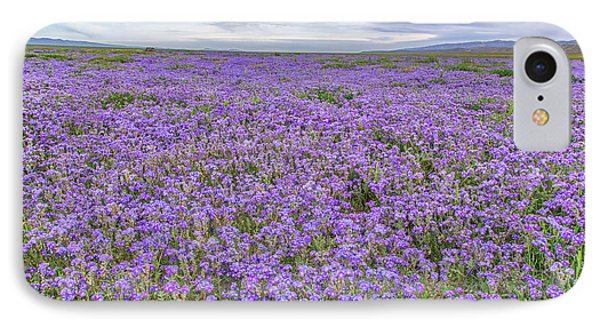 IPhone Case featuring the photograph Phacelia Field And Clouds by Marc Crumpler