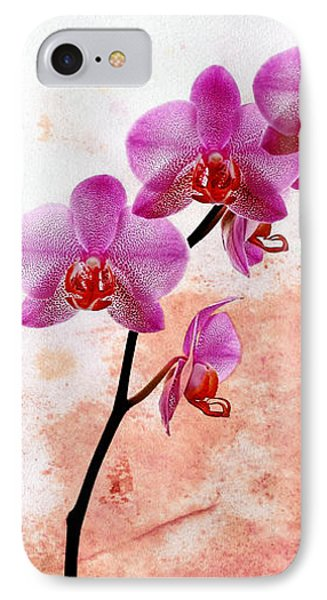 Phalaenopsis Orchid Pink IPhone Case by Mark Rogan