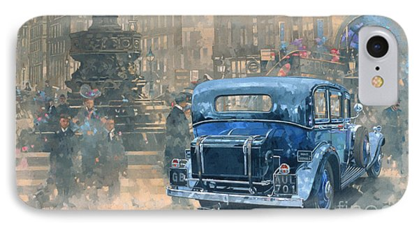 Phantom In Piccadilly  IPhone 7 Case by Peter Miller