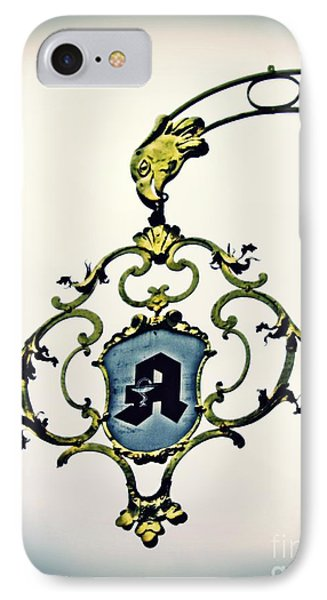 Pharmacy Sign In Wiesbaden      IPhone Case by Sarah Loft