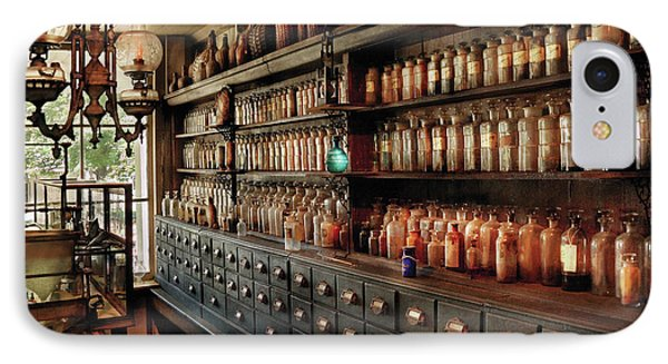 Pharmacy - So Many Drawers And Bottles Phone Case by Mike Savad