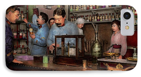 IPhone Case featuring the photograph Pharmacy - The Dispensing Chemist 1918 by Mike Savad