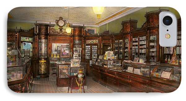 Pharmacy - Weller's Pharmacy 1915 IPhone Case by Mike Savad