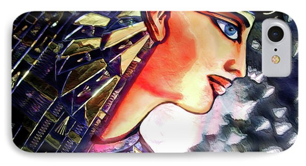 IPhone Case featuring the digital art Pharoah Of Egypt by Pennie  McCracken