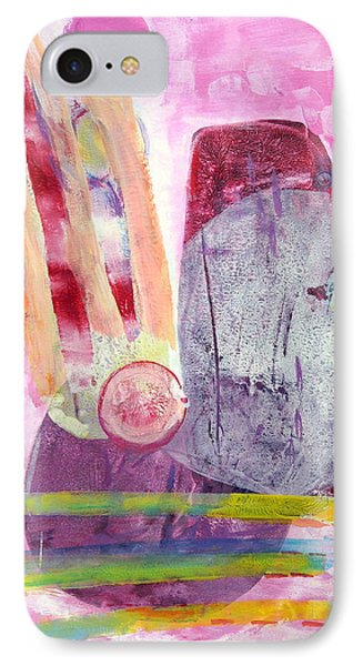 IPhone Case featuring the painting Phases by Mary Schiros