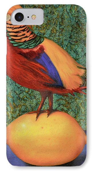Pheasant On A Lemon IPhone Case by Leah Saulnier The Painting Maniac