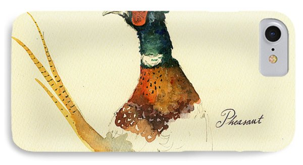 Pheasant Painting IPhone Case by Juan  Bosco
