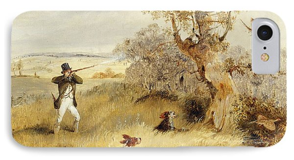 Pheasant Shooting IPhone Case by Henry Thomas Alken