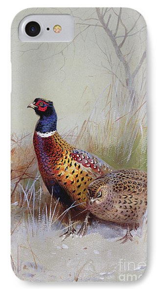 Pheasants In The Snow IPhone 7 Case