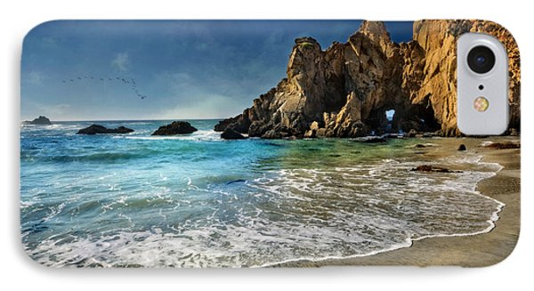 Pheiffer Beach #9- Big Sur California IPhone Case by Jennifer Rondinelli Reilly - Fine Art Photography