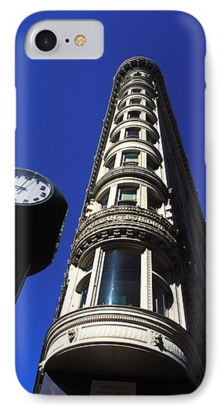 Phelan Building In San Francisco IPhone Case by Carl Purcell