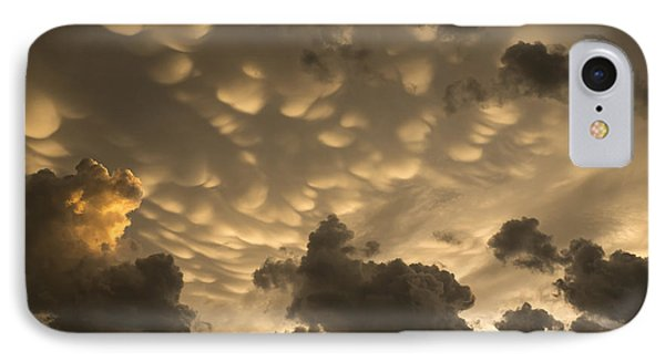 Phenomenal Sky - Extraordinary Mammatus Clouds At Sunset IPhone Case