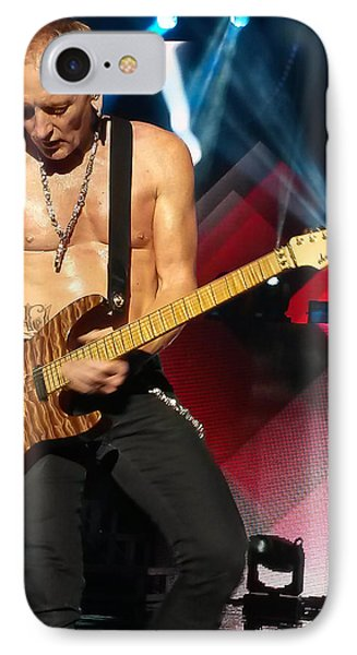 Phil Collen Of Def Leppard 2 IPhone 7 Case by David Patterson