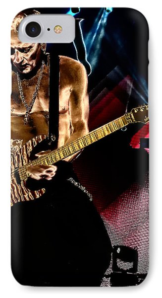 Phil Collen Of Def Leppard 3 IPhone 7 Case by David Patterson
