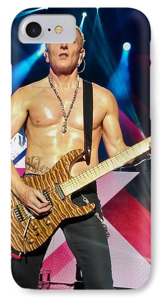 Phil Collen Of Def Leppard 5 IPhone 7 Case by David Patterson