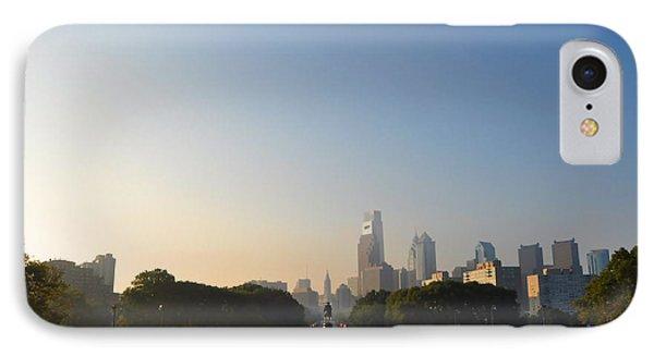 Philadelphia Across Eakins Oval Phone Case by Bill Cannon