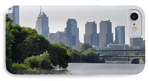 Philadelphia Along The Schuylkill River Phone Case by Bill Cannon