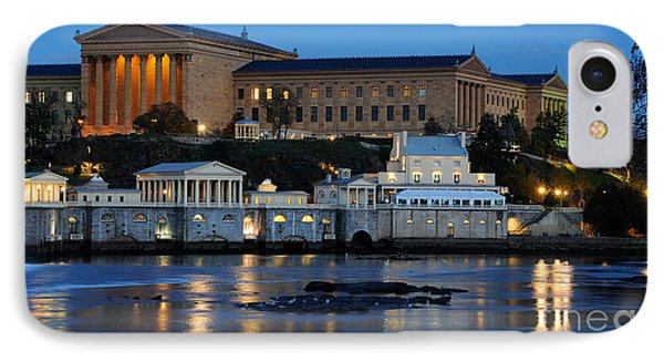 Philadelphia Art Museum And Fairmount Water Works IPhone Case by Gary Whitton