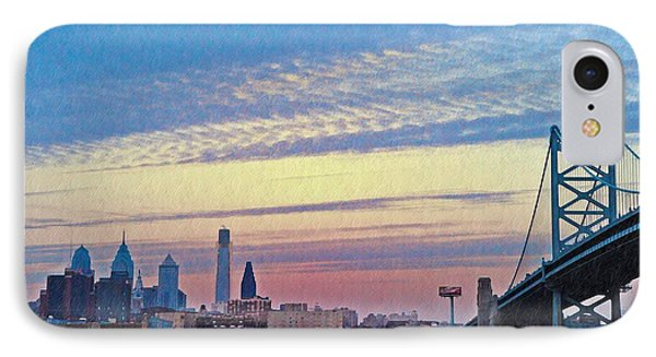 Philadelphia At Dawn Phone Case by Bill Cannon