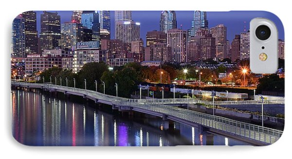 Philadelphia Blue Hour IPhone Case by Frozen in Time Fine Art Photography