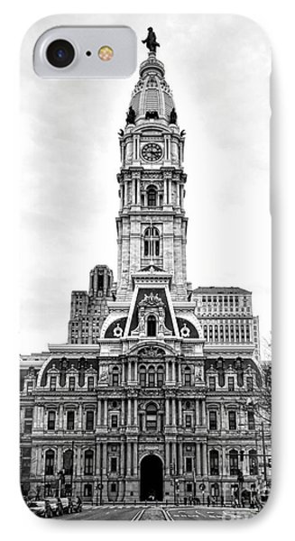 Philadelphia City Hall Building On Broad Street IPhone Case by Olivier Le Queinec