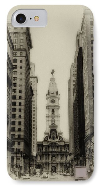 Philadelphia City Hall From South Broad Street Phone Case by Bill Cannon