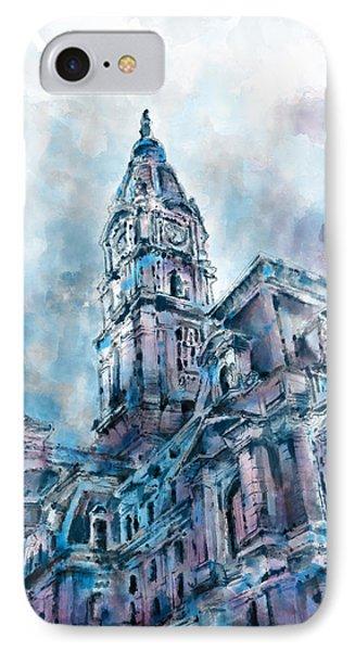 Philadelphia City Hall IPhone Case by Bekim Art