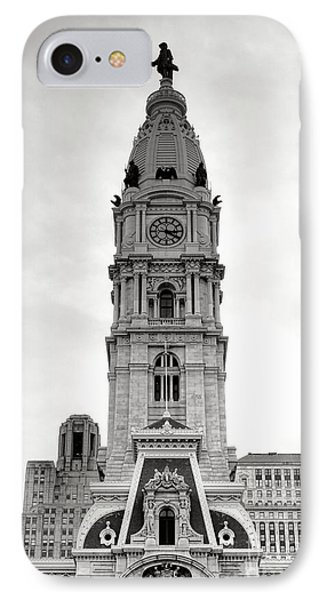 Philadelphia City Hall Tower IPhone Case by Olivier Le Queinec