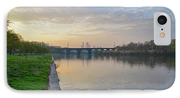 IPhone Case featuring the photograph Philadelphia Cityscape From The Schuylkill In The Morning by Bill Cannon