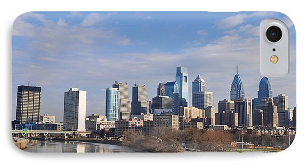 Philadelphia From The South Street Bridge Phone Case by Bill Cannon
