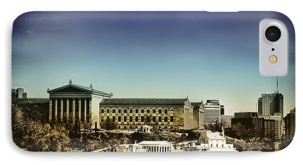 Philadelphia Museum Of Art And The Fairmount Waterworks From West River Drive Phone Case by Bill Cannon