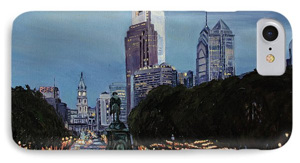 Philadelphia Nightfall IPhone Case by Christopher Buoscio