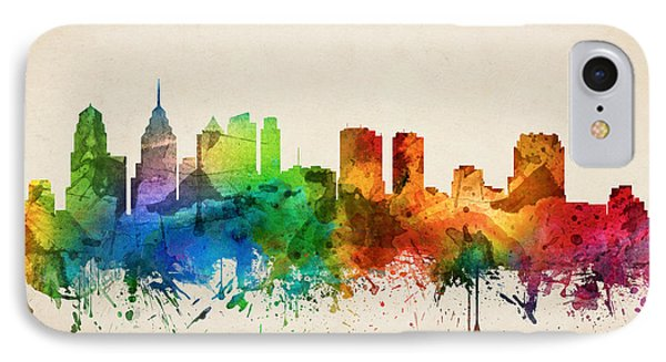 Philadelphia Pennsylvania Skyline 05 IPhone 7 Case by Aged Pixel