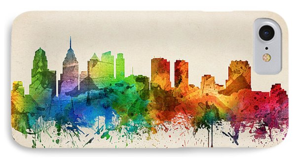 Philadelphia Pennsylvania Skyline 05 IPhone Case by Aged Pixel