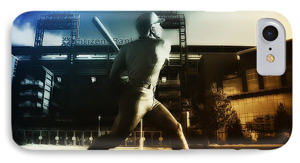 Philadelphia Phillie Mike Schmidt IPhone Case by Bill Cannon