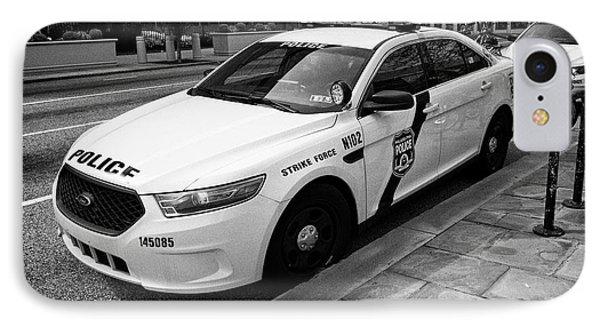 Philadelphia Police Narcotics Strike Force Police Cruiser Vehicle Usa IPhone Case