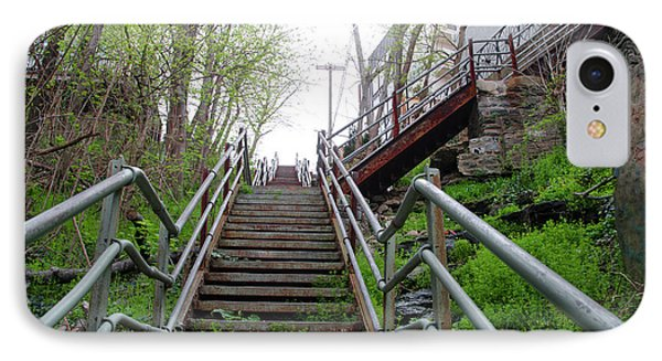 IPhone Case featuring the photograph Philadelphia - Roxborough Avenue Steps by Bill Cannon