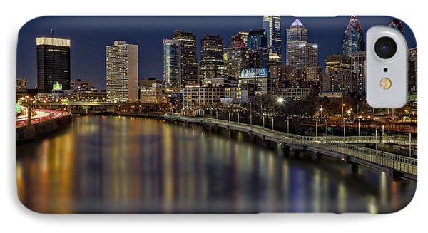 Philadelphia Skyline At Night IPhone Case by Susan Candelario