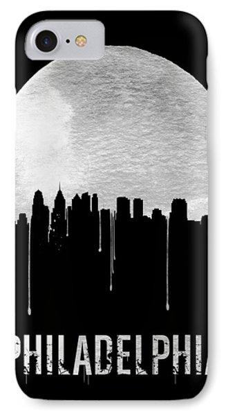 Philadelphia Skyline Black IPhone 7 Case by Naxart Studio