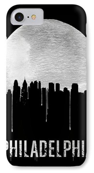 Philadelphia Skyline Black IPhone Case by Naxart Studio