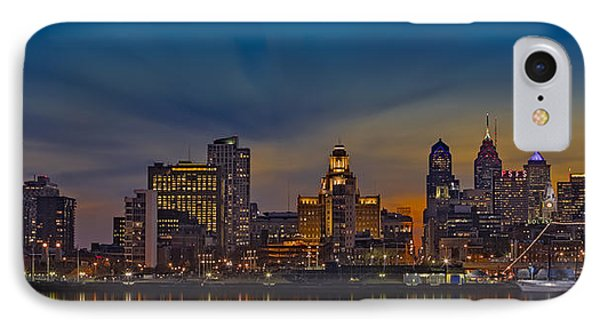 Philadelphia Skyline Panorama IPhone Case by Susan Candelario