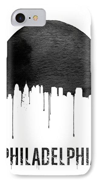Philadelphia Skyline White IPhone Case by Naxart Studio